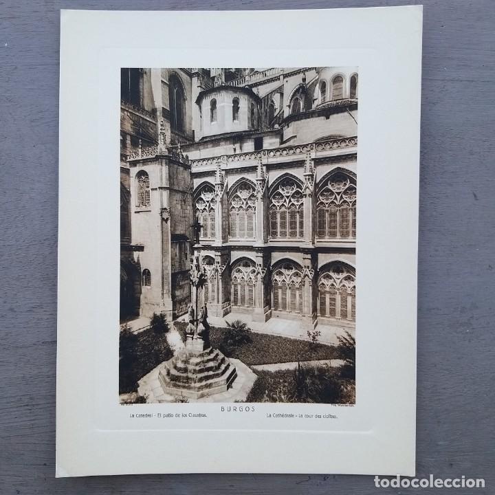 GRAN FOTOGRAFIA/FOTOTIPIA IMPRESA LA CATEDRAL BURGOS FOTO OTTO WUNDERLICH (Postales - España - Castilla y León Antigua (hasta 1939))