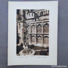 Postales: GRAN FOTOGRAFIA/FOTOTIPIA IMPRESA LA CATEDRAL BURGOS FOTO OTTO WUNDERLICH. Lote 208293978