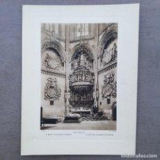 Postales: GRAN FOTOGRAFIA/FOTOTIPIA IMPRESA LA CATEDRAL BURGOS FOTO OTTO WUNDERLICH. Lote 208295075