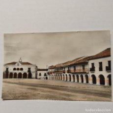 Postales: SANTA MARÍA LA REAL DE LA NIEVA (SEGOVIA) PLAZA MAYOR, HELOTIPIA ARTÍSTICA ESPAÑOLA. Lote 208393348