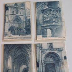 Postales: LOTE DE 5 POSTALES PALENCIA CATEDRAL AÑOS 20 EDICION FOTOS ALONSO. Lote 209906338