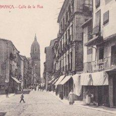 Postales: SALAMANCA CALLE DE LA RUA. ED. FOPTIA. CASTAÑEIRA ALVAREZ Y LAVENFELD. SIN CIRCULAR. Lote 210035833