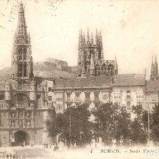 Postales: BURGOS Nº 4 STA. MARIA Y LA CATEDRAL LL CIRC. EN 1912. Lote 210274030