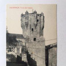 Postales: SALAMANCA. POSTAL TORRE DEL CLAVERO. FOTOTIPIA THOMAS 787 (H.1920?) S/C. Lote 210315697