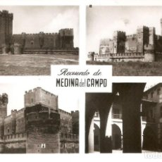 Postales: MEDINA DEL CAMPO - RECUERDO CIRCULADA EN 1955. Lote 210396696