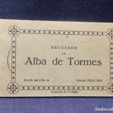 Postales: BLOC POSTALES ALBA DE TORMES SALAMANCA 12 DE 15 VER FOTOS ED FELIX BRIZ. Lote 210411500