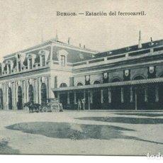 Postales: BURGOS-ESTACIÓN DEL FERROCARRIL. Lote 211631311