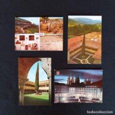 Postales: 4 POSTALES BURGOS. SANTO DOMINGO DE SILOS, CLUNIA. Lote 211802028