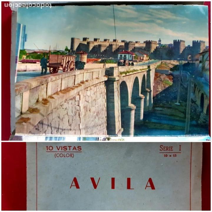 AVILA - 10 VISTAS COLOR SERIE 1 -AÑOS 60 (Postales - España - Castilla y León Antigua (hasta 1939))
