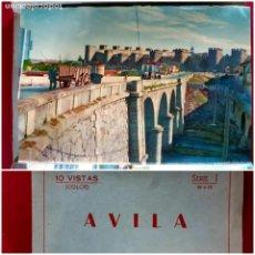 Postales: AVILA - 10 VISTAS COLOR SERIE 1 -AÑOS 60. Lote 212199883