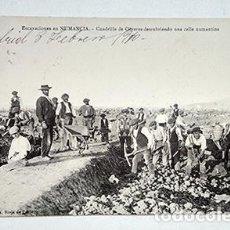 Postales: EXCAVACIONES EN NUMANCIA. A. RIOJA DE PABLO. DIRIGIDA AL PASTOR HANS FLIEDNER. 1910. Lote 221713922