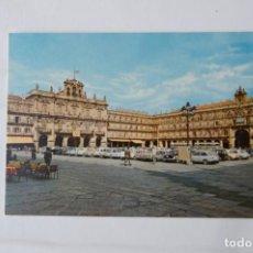 Postales: POSTAL: PLAZA MAYOR. ENCUENTRO DE COCHES ( SALAMANCA). Lote 213904896