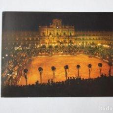 Postales: POSTAL DE SALAMANCA. CORRIDA GOYESCA EN LA PLAZA MAYOR. Lote 213909213