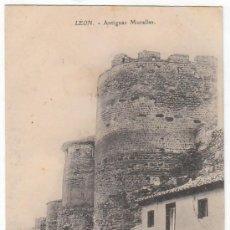 Postales: PRECIOSA POSTAL. ANTIGUAS MURALLAS, LEÓN. CLICHÉ PROPIEDAD COLECCIÓN GARCÍA. CIRCULADA 1908 PT. Lote 214453190