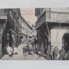 Cartes Postales: ANTIGUA POSTAL, LEON, CALLE DE LA REINA VICTORIA, FOTOTIPIA THOMAS BARCELONA, TARJETA POSTAL. Lote 216493336