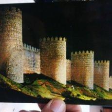Postales: POSTAL ÁVILA ASPECTO NOCTURNO DE LAS MURALLAS N 32 GARCIA GARRABELLA S/C. Lote 217157786