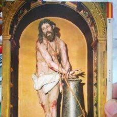 Postales: POSTAL ÁVILA CRISTO ATADO A LA COLUMNA GREGORIO HERNÁNDEZ MANIPEL S/C. Lote 217238620