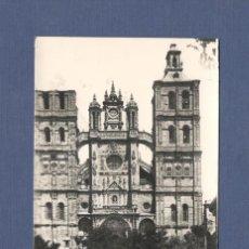 Postales: POSTAL ASTORGA (LEON): 4 FACHADA PRINCIPAL DE LA CATEDRAL. - EDICIONES ARRIBAS - ESCRITA. Lote 217990576