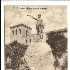 Postales: ZAMORA -ANTIGUA -FOTO-POSTAL- ESTATUA DE VIRIATO- EDT-GARCIA VILAPLANA -NUEVA. Lote 219307161