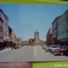 Postales: AGUILAR DE CAMPOO PALENCIA PLAZA ESPAÑA ED SICILIA 4 COCHES CLASICOS ANIMADA. Lote 219309163