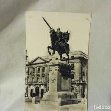 Postales: POSTAL HELIOTIPIA ARTÍSTICA ESPAÑOLA BURGOS 71 MONUMENTO AL CID BLANCO Y NEGRO CIRCULADA. Lote 220789050