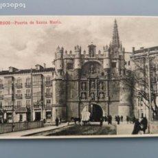 Postales: POSTAL BURGOS PUERTA ARCO SANTA MARIA EDIC KNACKSTEDT CASTILLA PERFECTA CONSERVACION. Lote 221705912