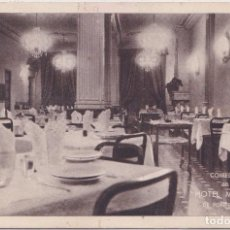Postales: PONFERRADA (LEON) - COMEDOR DEL HOTEL MADRID - HUECOGRABADA FOURNIER - VITORIA. Lote 221781762