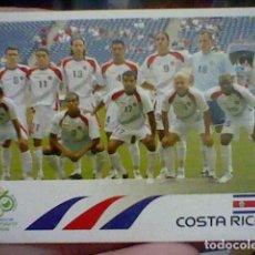 Postales: COSTA RICA ALINEACION 36 PANINI 2006 ALEMANIA MUNDIAL SIN PEGAR NUNCA. Lote 221818987
