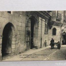 Postales: 129. BURGOS. CALLE DE FERRAN GONZALEZ 'CASA DEL CUBO' SIGLO XVI. (HAUSER Y MENET). Lote 222452751