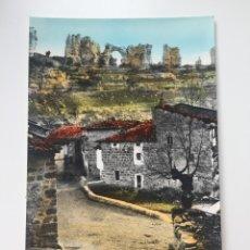 Postales: ORBANEJA DEL CASTILLO - VISTA DEL PUEBLO, AL FONDO EL CASTILLO - COLOREADA. Lote 222879842