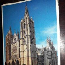 Cartes Postales: Nº 39632 POSTAL LEON FACHADA PRINCIPAL CATEDRAL. Lote 223355305