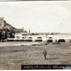 Postales: PRECIOSA POSTAL FOTOGRAFICA - AGUILAR DE CAMPOO (PALENCIA) - PUENTE MAYOR - FOT. J.GARCIA. Lote 224800738