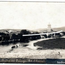 Postales: PRECIOSA POSTAL FOTOGRAFICA - AGUILAR DE CAMPOO (PALENCIA) - ORILLAS DEL PISUERGA - FOT. J.GARCIA. Lote 224800951