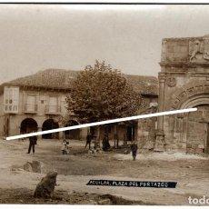 Postales: PRECIOSA POSTAL FOTOGRAFICA - AGUILAR DE CAMPOO (PALENCIA) - PLAZA DEL PORTAZGO - FOT. J.GARCIA. Lote 224801657