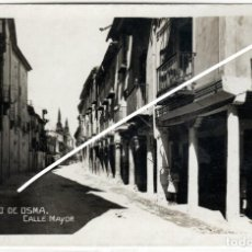 Postales: BONITA POSTAL FOTOGRAFICA - BURGO DE OSMA (SORIA) - CALLE MAYOR. Lote 225206440