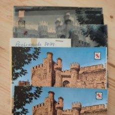 Postales: PONFERRADA / CASTILLO DE LOS TEMPLARIOS /POSTAL / NEGATIVOS / PRUEBA COLOR / EDI. PERGAMINO. Lote 225785955