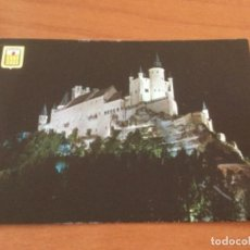 Postales: POSTAL ALCAZAR, VISTA NOCTURNA. SEGOVIA. Lote 228132360
