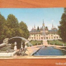 Postales: POSTAL PALACIO DESDE EL TEMPLETE DE LAS TRES GRACIAS. LA GRANJA DE SAN ILDEFONSO, SEGOVIA. Lote 228134298