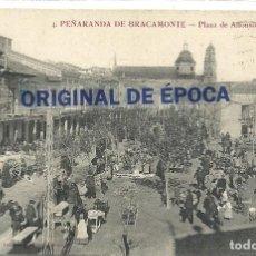 Postales: (PS-64052)POSTAL DE PEÑARANDA DE BRACAMONTE-PLAZA DE ALFONSO XIII. Lote 228164261