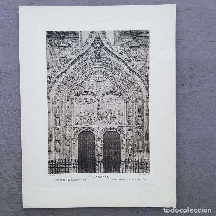 GRAN FOTOGRAFIA/FOTOTIPIA IMPRESA LA CATEDRAL SALAMANCA FOTO OTTO WUNDERLICH (Postales - España - Castilla y León Antigua (hasta 1939))