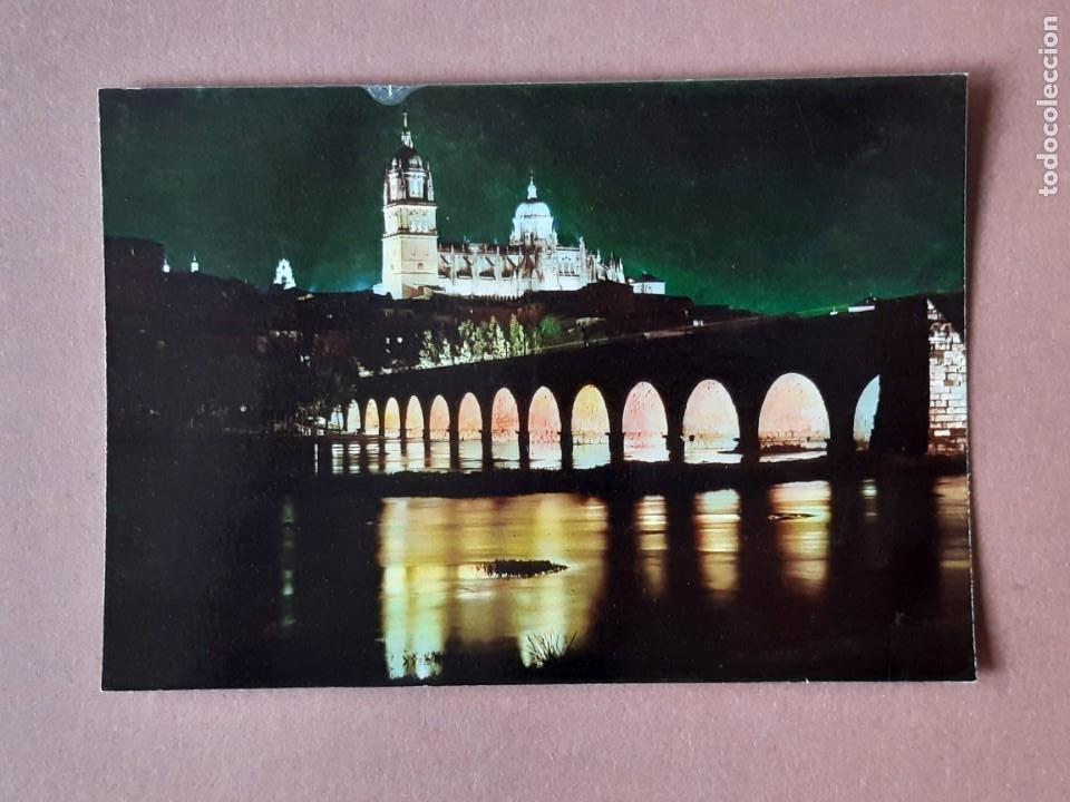 POSTAL 2028 ARRIBAS. CATEDRAL. PUENTE ROMANO. NOCTURNO. SALAMANCA. 1963. SIN CIRCULAR. (Postales - España - Castilla y León Moderna (desde 1940))