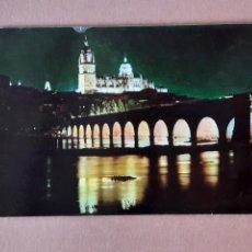 Postales: POSTAL 2028 ARRIBAS. CATEDRAL. PUENTE ROMANO. NOCTURNO. SALAMANCA. 1963. SIN CIRCULAR.. Lote 230406370