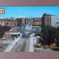 Postales: POSTAL 50 SUBIRATS CASANOVAS. PUENTE DE LA ESTACIÓN. GLORIETA DE GUZMÁN. LEÓN. 1968. SIN CIRCULAR.. Lote 230414260