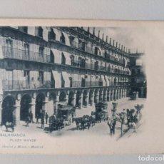 Postales: 1910 POSTAL DILIGENCIAS EN LA PLAYA MAYOR DE SALAMANCA - HAUSER Y MENET - IMPECABLE. Lote 231183365