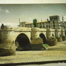 Postales: POSTAL LEON .-PUENTE S.MARCOS COLOREADA ESCRITA CM. Lote 231679780