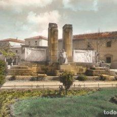 Postales: ARANDA DE DUERO (BURGOS) PLAZA PRIMO DE RIVERA. MONUMENTO A ARIAS DE MIRANDA.. Lote 234485815