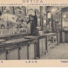 Postales: LEON, OPTICA LA GAFA DE ORO. POSTAL DE PUBLICIDAD. VER REVERSO. Lote 234729560