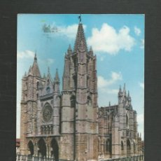Cartes Postales: POSTAL CIRCULADA - LEON 35 - CATEDRAL - EDITA GARCIA GARRABELLA. Lote 235301180