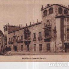 Postales: POSTAL DE BURGOS CASA DEL CORDÓN. Lote 235919010