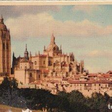 Postales: POSTAL DE SEGOVIA CATEDRAL. Lote 235946275